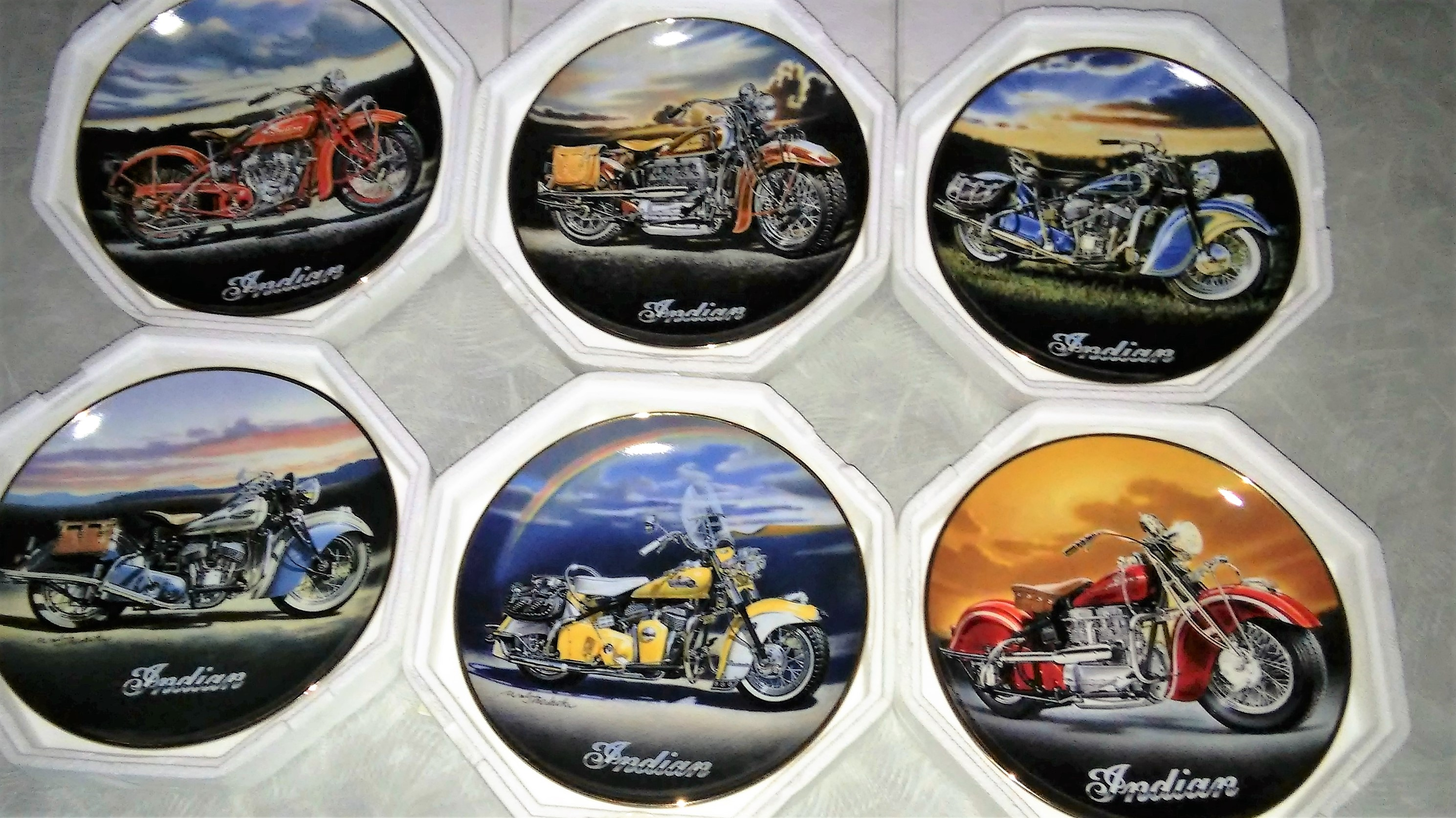 Vintage Indian Motorcycle Franklin Mint collectable Plates | Indian ...