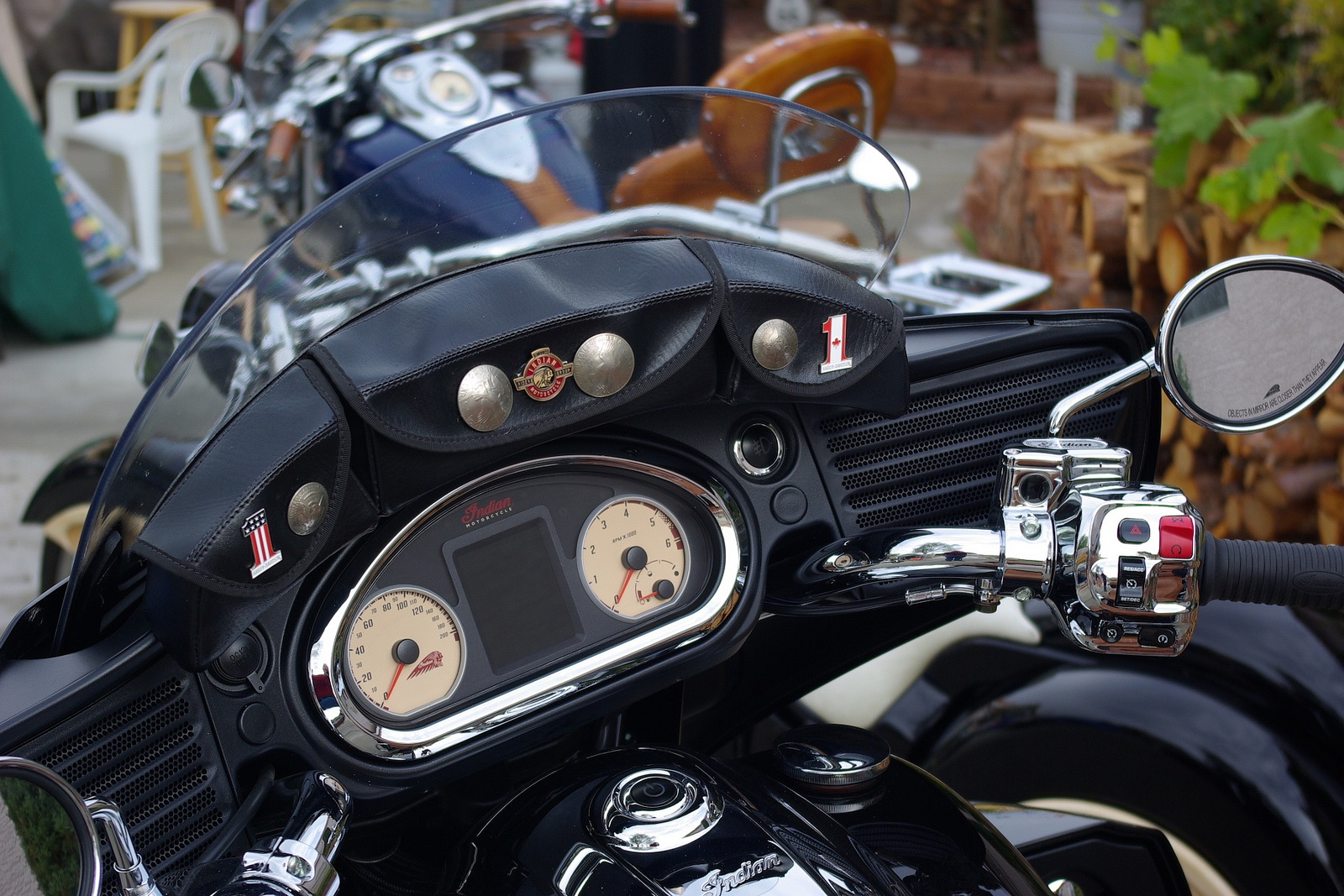 Roadmaster Will Go Across The Windshield In Indian Font 3M Chrome Then A Black Out Behind With Same Curve As Shield To Finish It Off