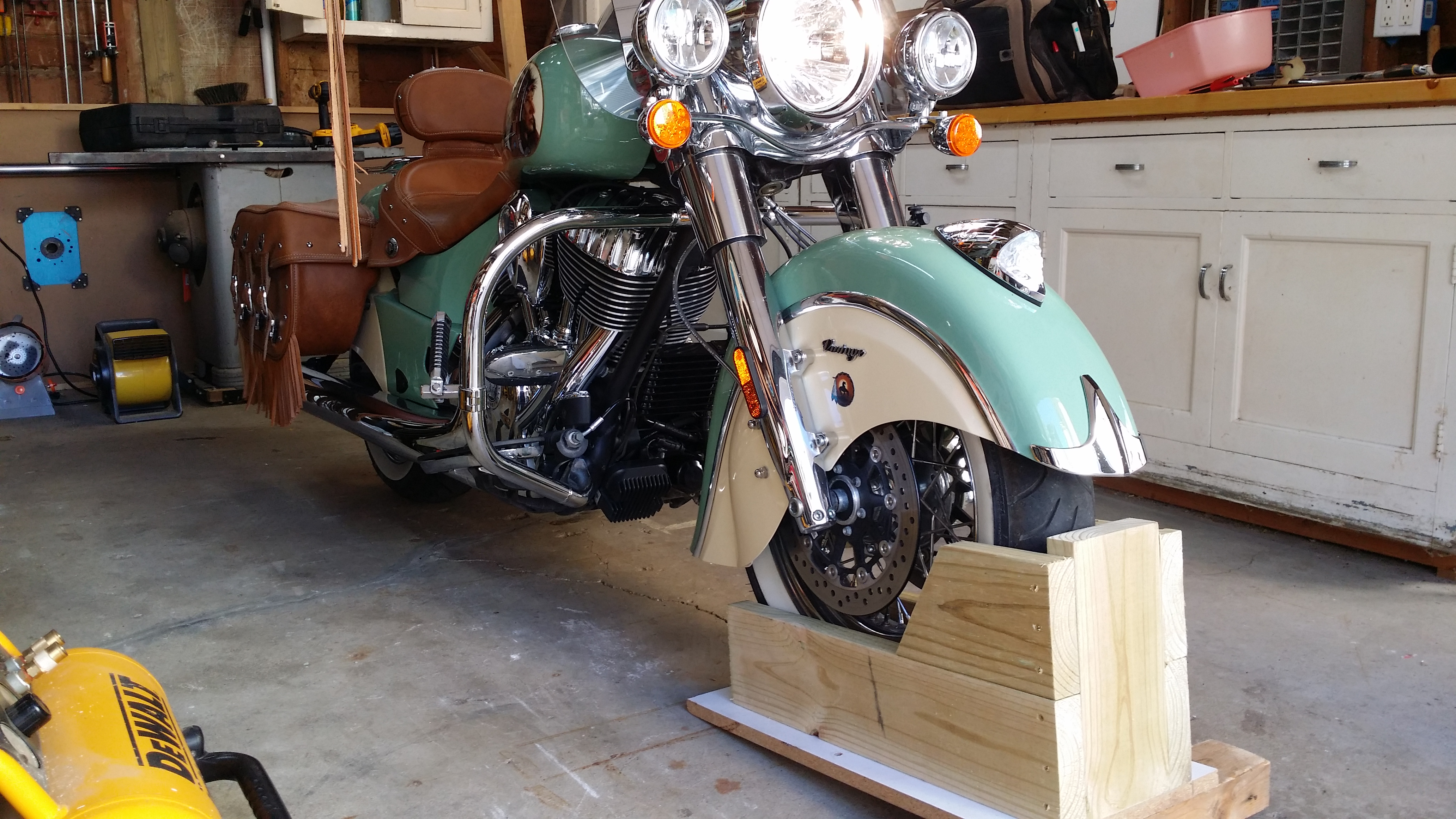 home made wheel chock indian motorcycle forum
