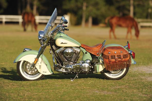 Kings Mt. Distressed Tan Leather Vintage Saddlebags & Seat | Indian ...