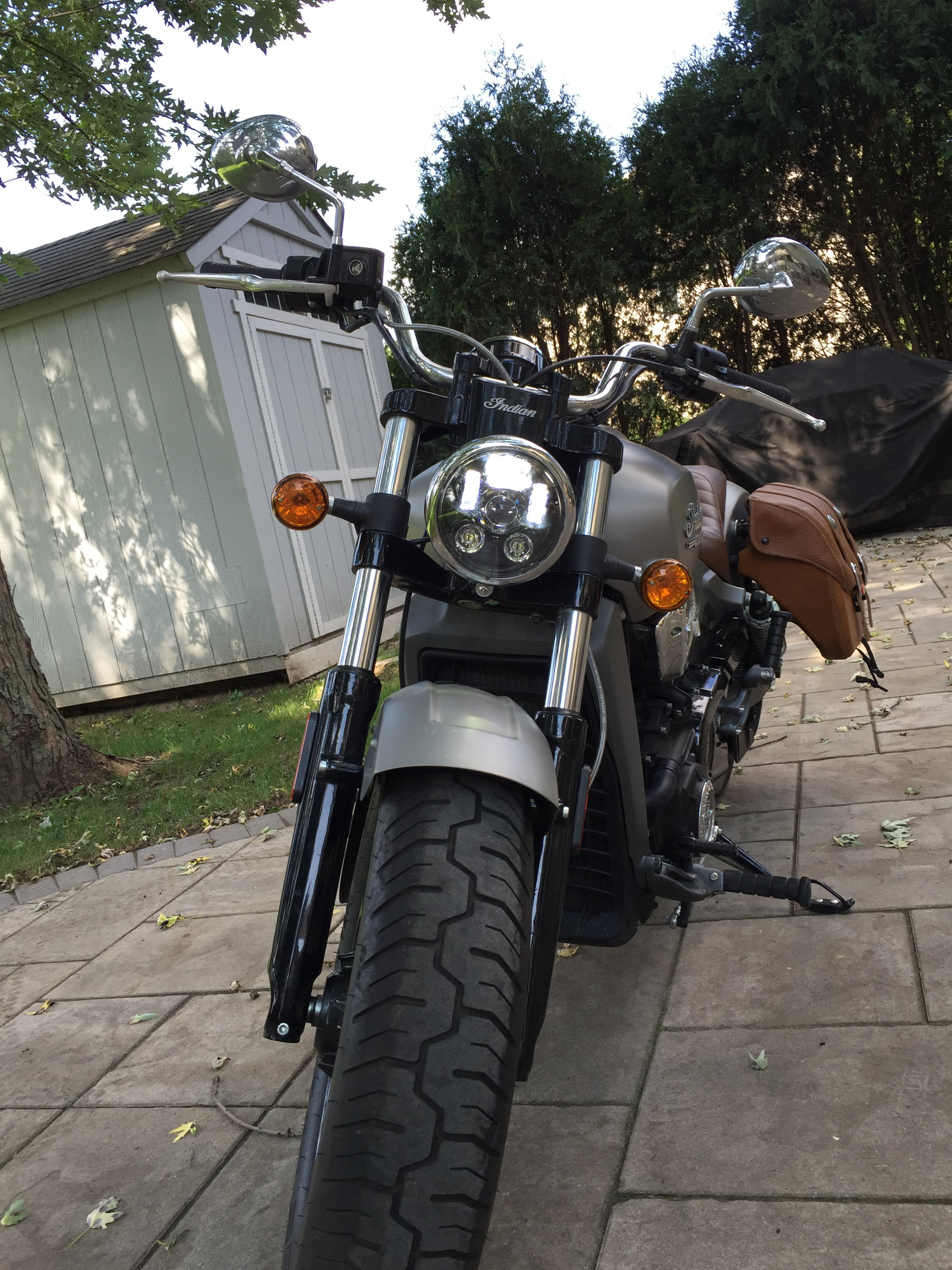 Aftermarket Headlight For Indian Scout
