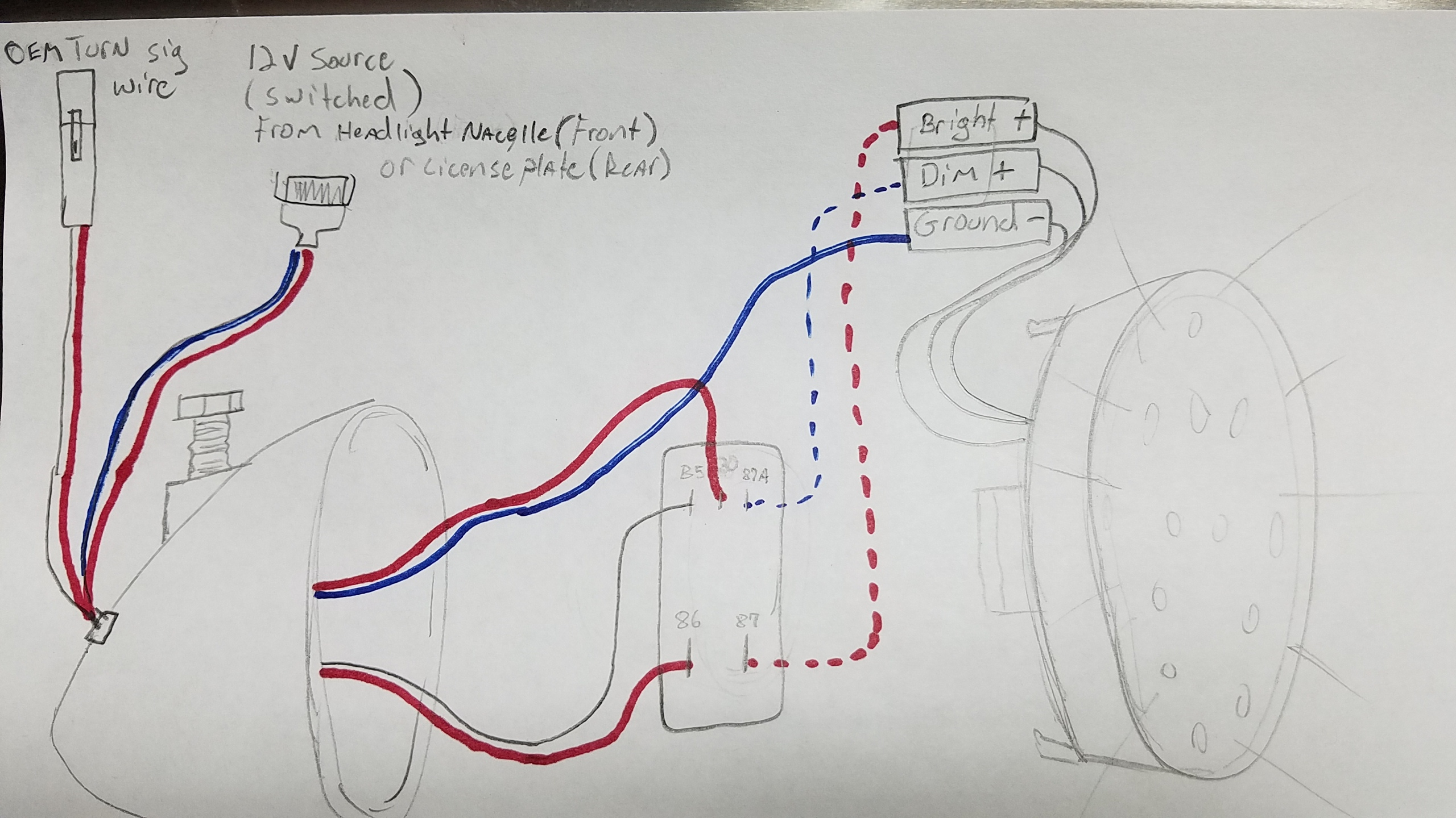 Mastercraft Wiring Harness Library Evinrude Diagram Trying To Tie Led Lights Into The Rear Brake Indian Dodge Dakota Diagrams