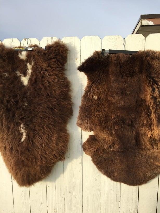 Alaska Leather Medium Sheepskin Buttpad Black Sheared Motorcycle Seat Pad