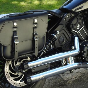 The Leatherworks 105 SLIM RETRO SLIGHT ANGLE SADDLEBAGS